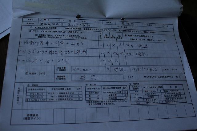 作業チェック表
